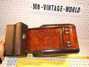 Mercedes W140 Cl500 S Coupe Rear Black Burl Wood Oem 1 Console And Ash Burl 1 Tray