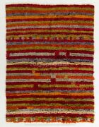 Contemporary Red Green Blue And Gray Moroccan Rug Custom Options Available