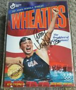 1996 Olympics Team Usa Swimming Amy Van Dyken Signed Wheaties Gold Medal Box