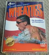 1996 Olympics Team Usa Swimming Tom Dolan Signed Wheaties Gold Medal Box