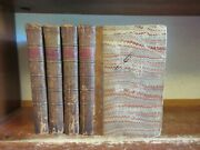 Old Private Life Of Lewis Xv Leather Book Set 1781 King France Political Events