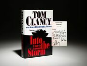Tom Clancy / Into The Storm Study In Command Association Copy Signed 1st Ed 1997