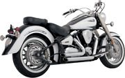 Vance And Hines Chrome Shortshots Motorcycle Exhaust 99-07 For Yamaha Road Star