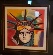 Peter Max Statue Of Liberty Liberty Head Rare One Of A Kind On Ebay Huge