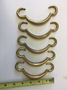 Brass Door Or Drawer Handles, Asian Style Chinese, Set Of 5 Pieces
