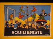 Vintage Balanced Circus Wooden Toy Swing Clown Boxed 30's France Eria