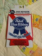 Pabst Blue Ribbon Can Cooler Hugger Koozie Sleeve Brand New Free Shipping
