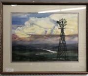 Norman Brown Original Watercolor Matted And Professionally Framed