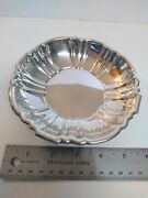 Vtg Epca Bristol Silverplate By Poole 160 Scalloped Edge Round Candy Dish Bowl