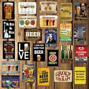 Man Beer Metal Tin Sign Vintage Wall Decor For Home Pub Bar Hotel Souvenirs Gift