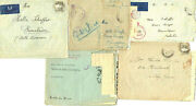 Wwii O.a.s Jewish Brigade, 5 Letters In Covers To Palestine, 1940s German