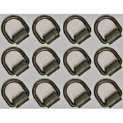 12pk 1/2 D Ring Weld-on Flatbed Truck/trailer Ratchet Strap Cargo Tie Down Ring