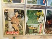 Davy Crockett Topps Orange Back 80 Cards Set In Pages 1956