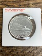 Space Shuttle Challengermemory Seven Great Americans 1 Troy Oz.999 Fine Silver