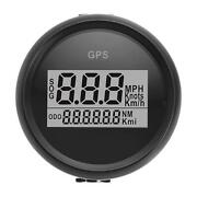 2and039and039 Gps Speedometer 0-999 Mph Kmh Knots For Car Motorcycle Marine Boat Universal