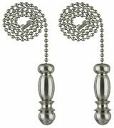 Ciata Pendant Pull Chain In Brushed Nickel Finish With 12 Inch Beaded Chain.