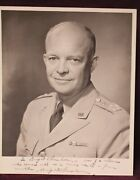 Dwight D. Eisenhower Autographed/signed Picture Ca 1950s