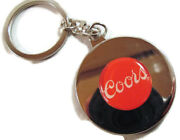 Coors Beer Chrome Perpetual Calendar Key Chain Ring New