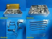 Weck Jarit Pilling Ditman D And C Tray Surgical Instruments W/ Carrying Case22140
