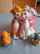 Disney Aristocats Cookie Jar With Salt And Pepper Set Limited Edition Of 150