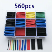 560pcs Cable Heat Shrink Tubing Sleeve Electrical Wire Wrap Insulation Tube Kit