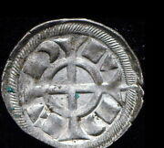 Medieval Coin The Crusade Of Frederick Ii Denar Silver Unc Genuine From 1218