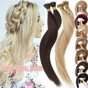 1g/s Nano Tip Loop Link Micro Ring/beads 100 Russian Human Hair Extensions Usps
