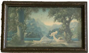 Antique R. Atkinson Fox Love's Paradise Figural Mother And Baby Landscape Print