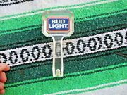 Vintage Bud Light Beer Tap Handle 2 Sided Clear Acrylic Shifter Handle Rat Rod