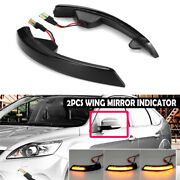2x Led Mirror Turn Signal Lights Lamps For Ford Ecosport Kuga / Escape 2013-2018