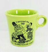 Tom Jerry Ring Coffee Mug Chartreuse Fiesta I Survived The And03999 Sale 10oz Signed