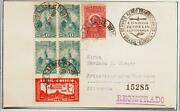 Brazil To Germany 1937 Zeppelin, Airship Lz 127 1st Flight Airmail Card,nutley