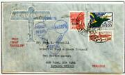 Brazil To Usa 1933 Zeppelin, Pan-am/cop Expo Flight Cover To Akron , Ex Nutley