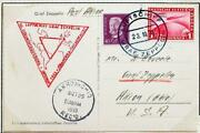 Germany To Usa 1933 Zeppelin, Cop Expo Crew Member Flight Card + Franking,nutley