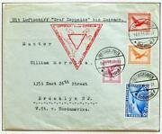 Germany To Usa 1933 Zeppelin, Pan-am/cop Expo Flight Cover + Franking , Nutley