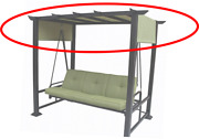 3 Person Pergola Swing- Replacement Canopy