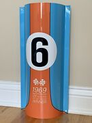 Gulf Racing Gasoline Gas Oil Ford Gt40 Metal Sign 18 Inch Curved Sign