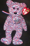 Ty Beanie Baby - Usa The Bear Usa Exclusive 8.5 Inch - Hologram Tag