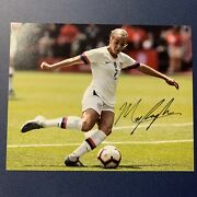 Mallory Pugh Signed 8x10 Photo Autographed Authentic Usa Womens Soccer Gold Coa