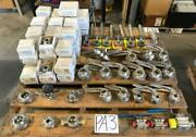 Lot 120 Stainless Steel Sanitary Ball And Butterfly Valves Tri-clamp And Weld