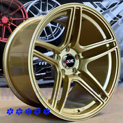 Xxr 572 Wheels 18 X9.5 10.5 +25 Gold Staggered 5x114.3 Fit 08 Nissan 350z Nismo