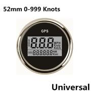 2.05and039and039 Led Gps Speedometer Gauge 0-999 Knots Mph Km/h For Marine Boat Speedboat