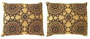 Pair Of Vintage Decorative Tapestry Pillows With Circles Design W Free Shipping