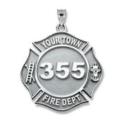 Personalized Firefighter Badge With Number And Dpt.in 10k14k Goldsterling Silver