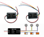 2pcs Car Brake/turn Signal Light Module Boxes For 3 Step Sequential Chase Flash