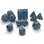 Blue Jade Shoes Polyhedral 15-die Set Role 4 Initiative 50606-fb