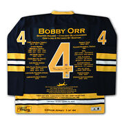 Bobby Orr Elite Edition Career Jersey 1 Of 44 - Autographed -boston Bruins