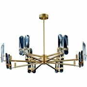 Modern Chandelier Light Crystal Fixture Stainless Copper Led Warm/cold White New