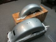 Harley Davidson Oem Flstf Front And Rear Fenders Brilliant Silver New 59596-10bht