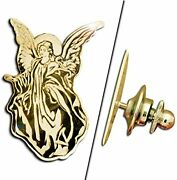 Guardian Angel Pin - Available In Solid 14k Gold,sterling Silver